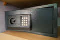 Personal safe in hotel room Royalty Free Stock Photo