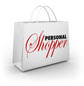 Personal shopper fashion style assistant service shopping bag the words on a to illustrate the services of a professional or who Royalty Free Stock Photos