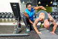 Personal trainer giving instructions Royalty Free Stock Photo