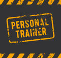 Personal trainer rubber stamp with the text Royalty Free Stock Photo