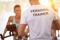 Picture : Personal trainer on training with client   internet