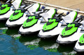 Personal watercraft line of concept photo extreme water sport and transportation Stock Images
