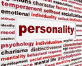 Personality social interaction design psychological issue creative words conceptual message Royalty Free Stock Image