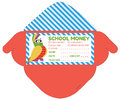 Personalized school money patches with teacher notes