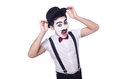 Personification of charlie chaplin on white Royalty Free Stock Image