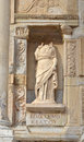 Personification of knowledge ancient roman statue episteme the or science according to platonic values from the celsus library Stock Photos