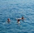 Personnes de natation Images stock