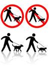 Persons Walk Dog Cat Pet Animals Royalty Free Stock Image
