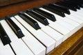 Perspective angle of piano key Royalty Free Stock Photo