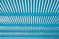 Perspective of blue lath wooden Royalty Free Stock Images