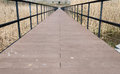 Perspective of bridge walkway Royalty Free Stock Photo