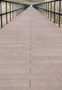 Perspective of bridge walkway Royalty Free Stock Photo