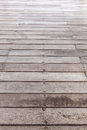 Perspective brown wood floor striped seamless Royalty Free Stock Photography