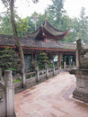 Perspective in Chinese Buddhist monastery Royalty Free Stock Photo