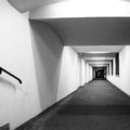 Perspective of corridor long black and white image Royalty Free Stock Images