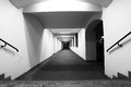 Perspective of corridor long black and white image Stock Photography
