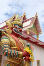 Perspective of Giant with white temple have roof three layer