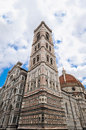 The perspective of the Giotto Bell Tower in Florence Royalty Free Stock Photo