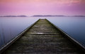 Perspective jetty Royalty Free Stock Photography