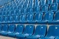 Perspective of many empty stadium seats Royalty Free Stock Photo