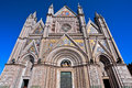Perspective of Orvieto Cathedral Royalty Free Stock Photo