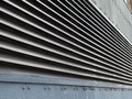 stock image of  Perspective view of industrial metal ventilation ducts