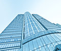 Perspective view  of skyscrapers Royalty Free Stock Images