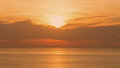 Perspectives of beautiful sunset above the sea. Orange sky at summer Royalty Free Stock Photo