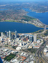 Perth City Aerial View 2 Stock Photography