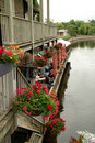 Perth Ontario on the Rideau Canal Royalty Free Stock Photography