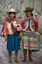 Peru- Cuzco - Hatumrumiyoc - Local Women  Stock Photography