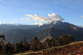 Peru landscape a in altiplano Royalty Free Stock Photo