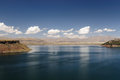 Peru landscape, beautyfull Umayo Lake near Puno Royalty Free Stock Photography