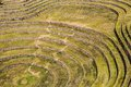 Peru moray ancient inca circular terraces probable there is the incas laboratory of agriculture Stock Images