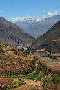 Peru mountains and valley Royalty Free Stock Images