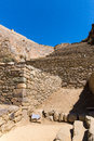 Peru, Ollantaytambo-Inca ruins of Sacred Valley in Andes mountains,South America. Royalty Free Stock Photo