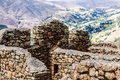 Peru, Pisac (Pisaq) - Inca ruins in the sacred valley in the Peruvian Andes Royalty Free Stock Photo