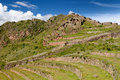 Peru, Sacred Valley, Pisaq Inca ruins Royalty Free Stock Photos