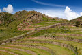 Peru, Sacred Valley, Pisaq Inca ruins Stock Photo