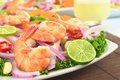 Peruvian Ceviche with King Prawn Royalty Free Stock Image