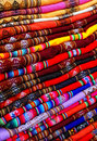 Peruvian fabric background Royalty Free Stock Image
