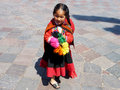 Peruvian girl wearing her typical attire Stock Image