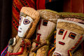Peruvian handicraft dolls for sale in a market Stock Photo