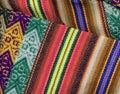 Peruvian textil closeup Stock Photos