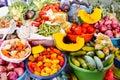 Peruvian vegetable stand
