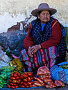 Peruvian woman Stock Photo