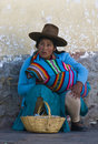 Peruvian woman Stock Image