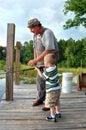 Pesca di Brehm Fotografia Stock Libera da Diritti