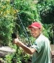 Pesca feliz Imagens de Stock Royalty Free