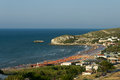 Peschici san nicola the beach of near a small turistic village on the adriatic sea of gargano peninsula in puglia italy Stock Photo